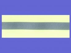 Reflexband gelb-silber-gelb