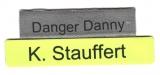 Namenstreifen Reflexband, bedruckt